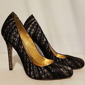 Badgley Mischka Lace Heels